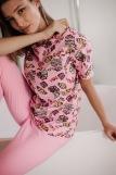 Женская пижама ЖП 024/8 (T) (Розовый _ принт круассаны) (Фото 4)