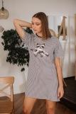 Женская сорочка ЖС 028/2 (T) (Клетка, енот с ружьем) (Фото 1)